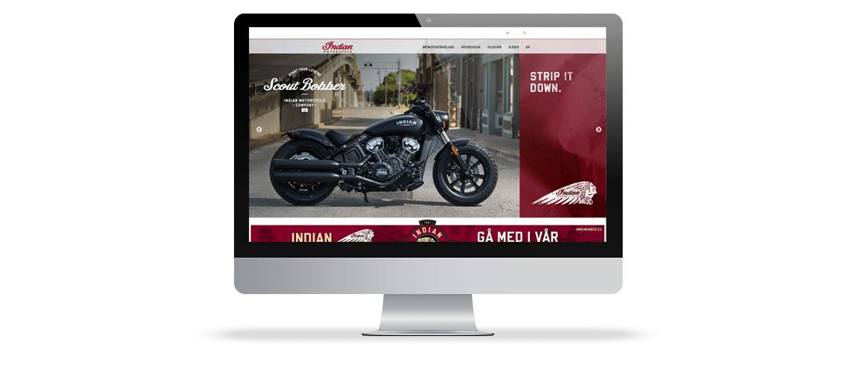 Indian motorcycles webb Redema